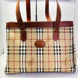Authentic Burberry Vintage Nova Check  Tote Bag